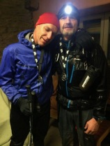 With Francois at the finish