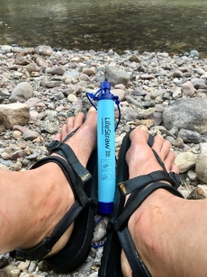 My new best friend, the LifeStraw...