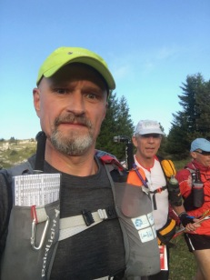 On the descent to Lans-en-Vercors, with Bertrand (Ultra Raramuri)